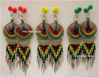 Rasta thread earrings