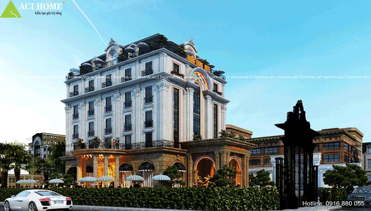 mẫu thiết kế khách sạn đẹp tại Bắc Ninh
