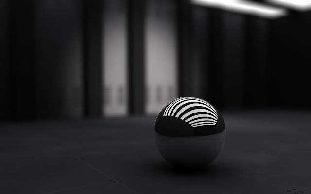 wallpaper black ball with white bands