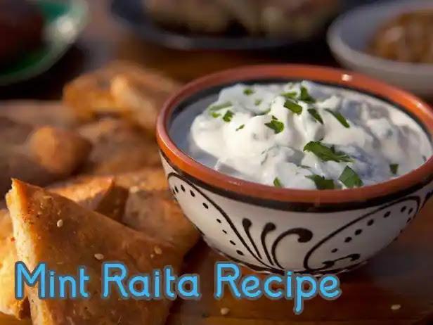 Delicious and healthy mint raita recipe for biryani
