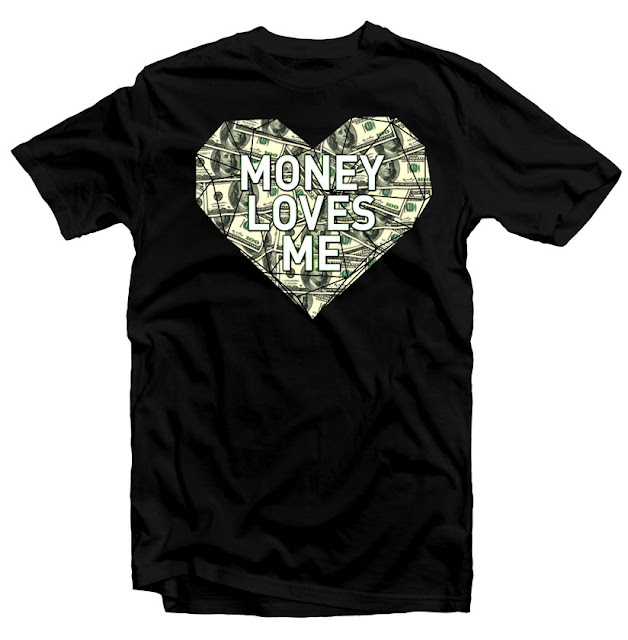 money loves me tshirt design