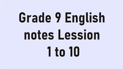 Grade 9 English notes