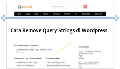 Cara remove Query Strings di Wordpress
