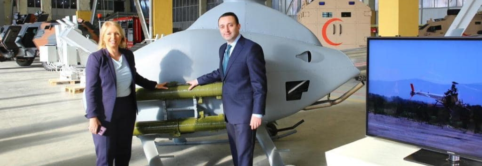 Georgia unveils new unmanned helicopter armed with Ukrainian antitank guided missiles