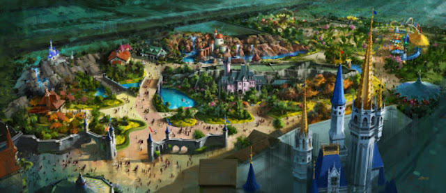 New Fantasyland Original Version Concept Art Magic Kingdom