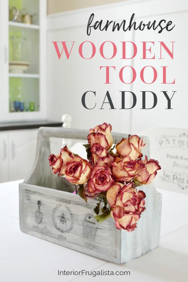 Farmhouse Wooden Tool Caddy