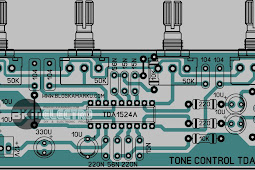 Layout Tone Control TDA 1524 PCB stereo