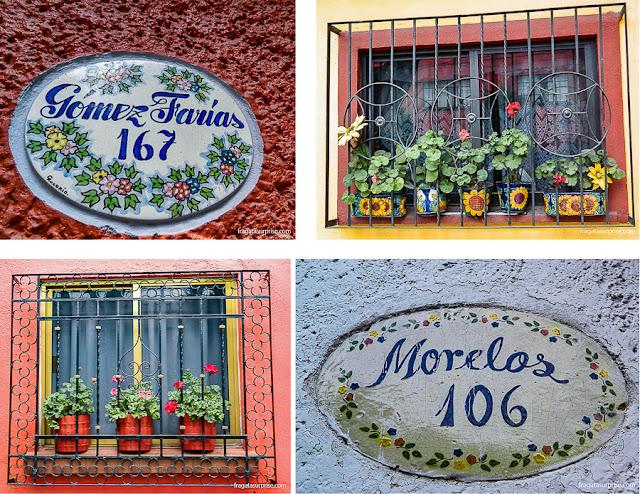 Fachadas de Coyoacán, bairro onde Frida Kahlo viveu, na Cidade do México