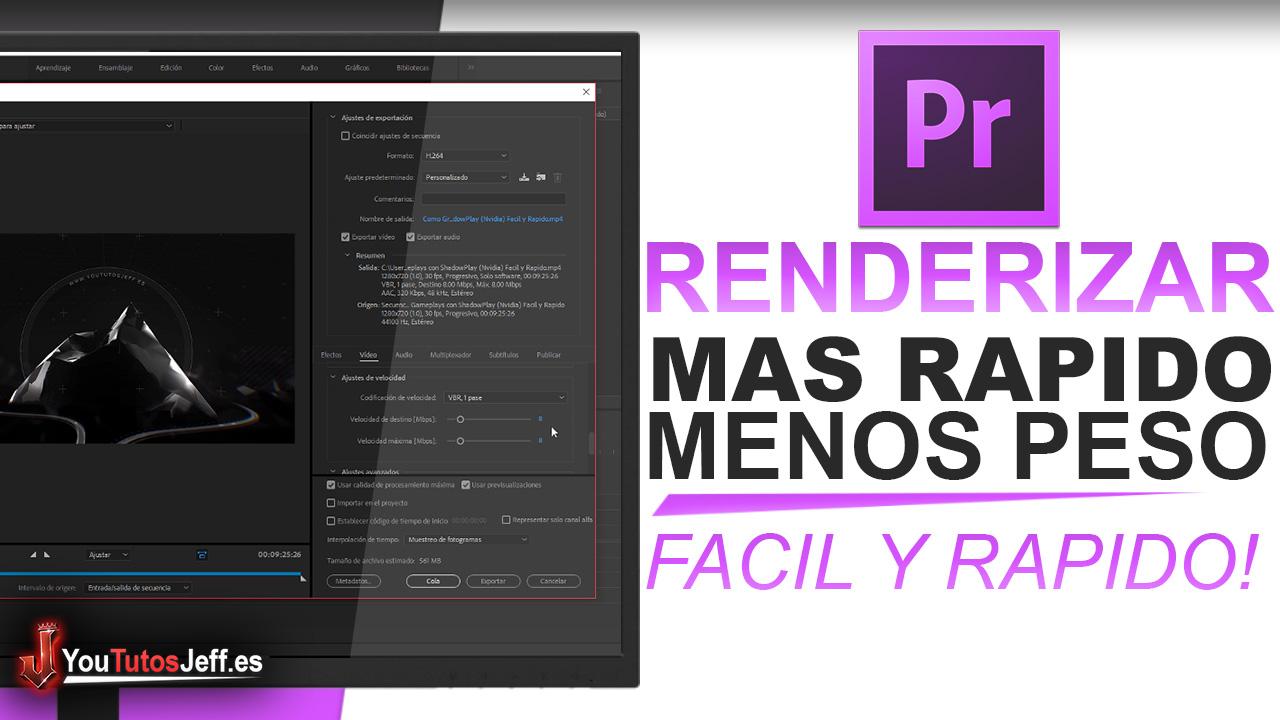 Como Renderizar mas Rápido en Adobe Premiere Pro - Fácil y Rápido