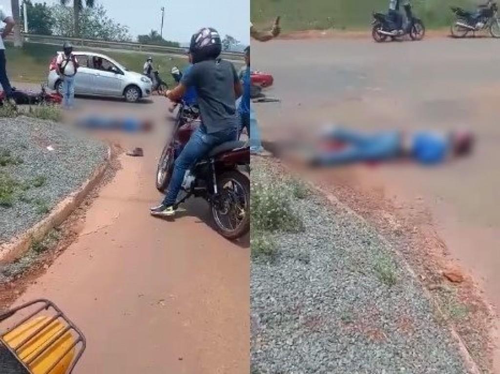 Caminhão boiadeiro faz conversão e mata motociclista esmagado em Cacoal