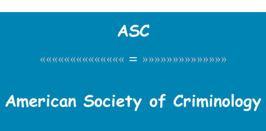Apa itu Perkumpulan Kriminologi Amerika?