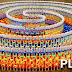 15,000 Dominoes Go Down In Hypnotizing Fashion In Triple Spiral Design