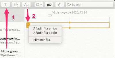 Como Crear una tabla en tu Mac con Notas