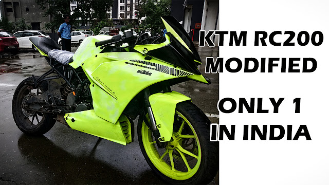 KTM RC 200 Fully modified only one in India