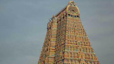 श्रीरंगम मंदिर गोपुरं (तिरुचिरापल्ली, त्रिची, तामिळनाडू)