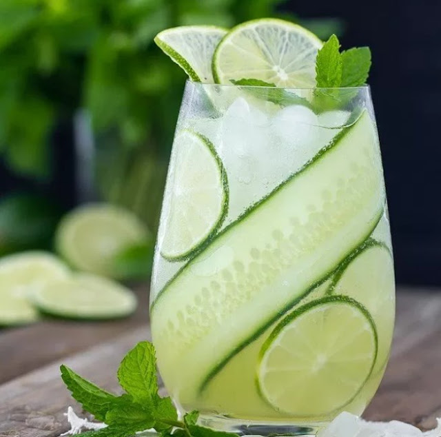 Cucumber Mint Cooler #summer #drinks