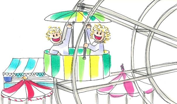 El Baño De Tina Y Leo Cuento Audiocuento Y Lámina Para: Tina Y Leo En El Parque De Atracciones