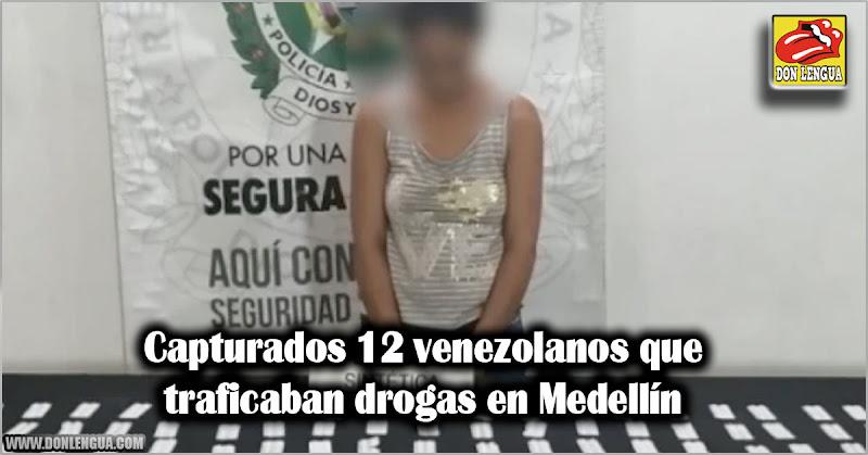 Capturados 12 venezolanos que traficaban drogas en Medellín