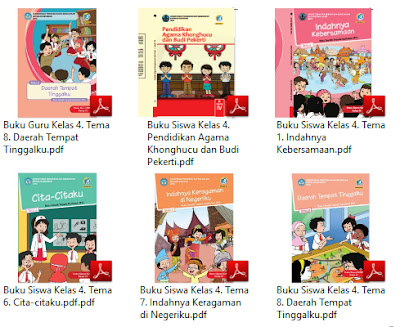 Buku Kurikulum 2013 SD Kelas 4 Tema Cita-Citaku Revisi 2017