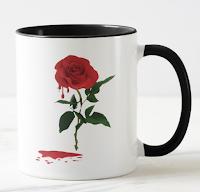 Ma Boutique Zazzle; zazzle; mug; bloody rose; delf in; delf; sang; rose; rose rouge; rouge; blood;