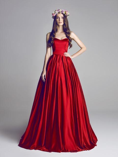فساتين سهرة لون احمر مميزلعام 2021 | احدث تشكيلة فساتين سهرة لون احمر لاناقتك وجمالك