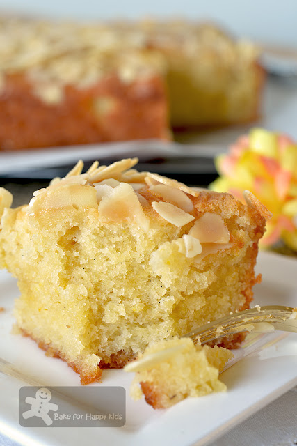 super moist lemon almond butter cake