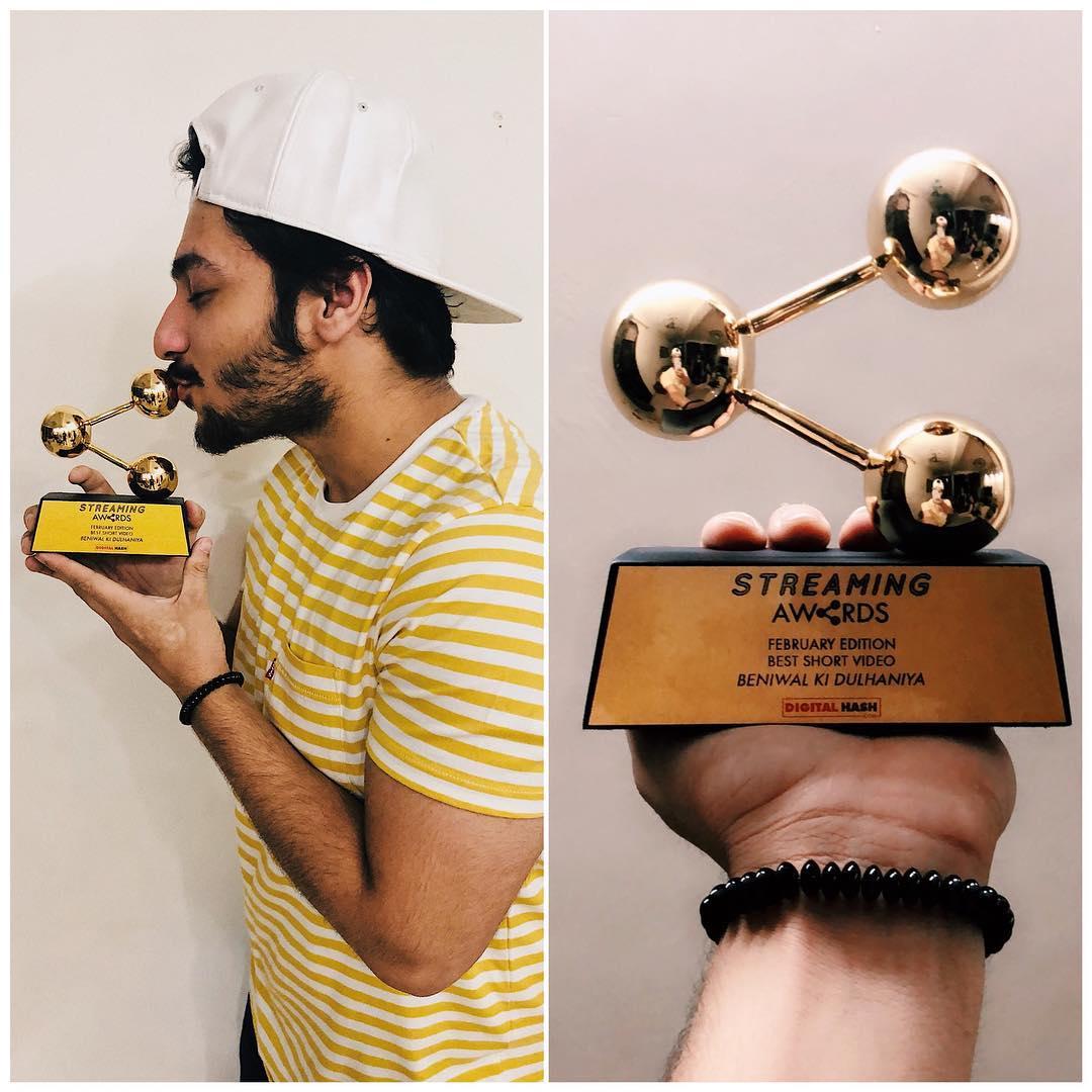 Harsh Beniwal Didital Streaming Award