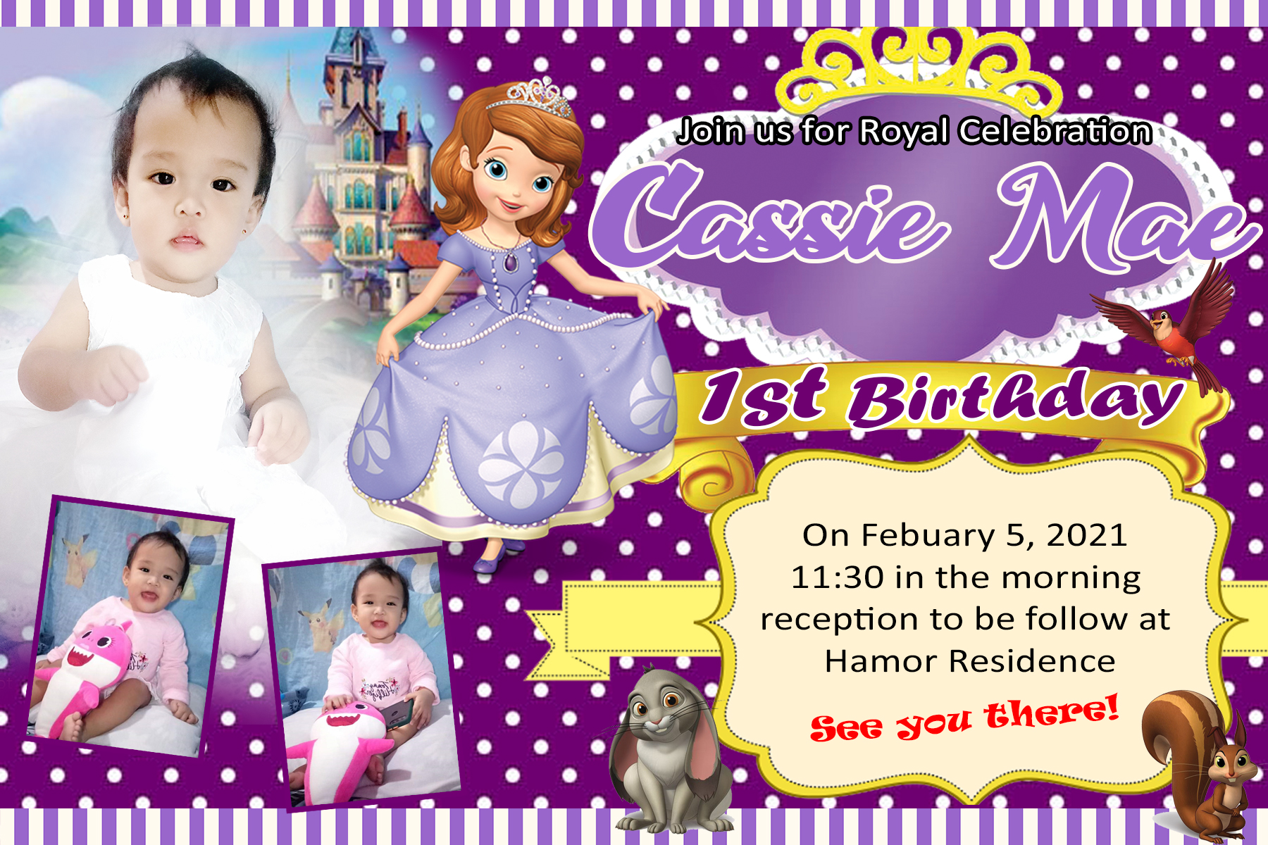 purple sofia the first sample