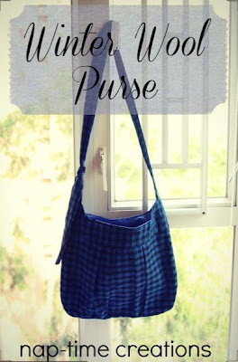 Winter Wool Purse Sewing Tutorial