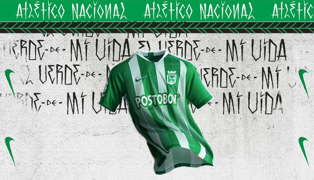 fe5e930b6 The Atlético Nacional 2019 home kit was already released in mid-January 2019 .