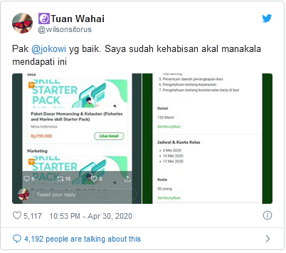 Jokowi,   Program Kartu Prakerja