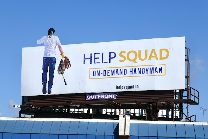 Help Squad on-demand handyman billboard