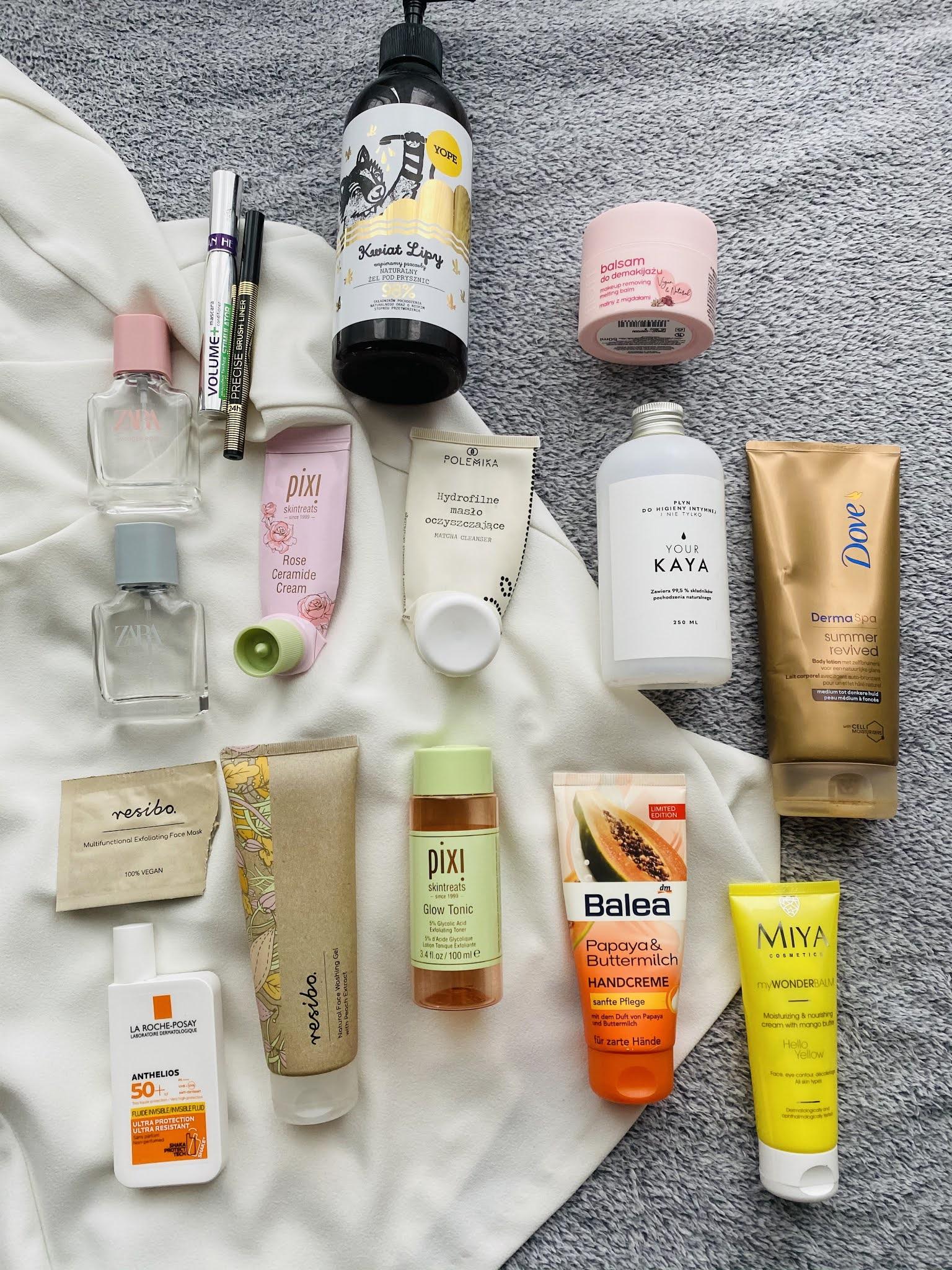 Zużycia ostatnich miesięcy | Hity do oczyszczania twarzy Polemika i Resibo