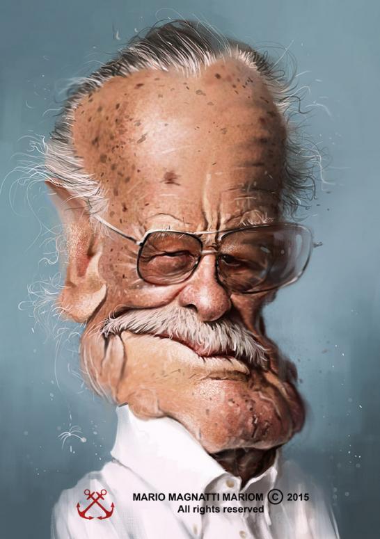 """Stan Lee"" por Mario Magnatti"