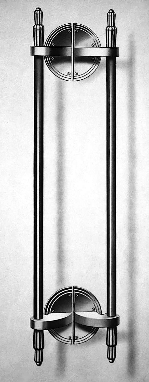 1930s cinema door handles, art deco