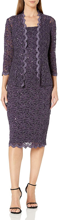 Short Purple Mother of The Bride Dresses
