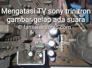 tv sony trinitron gambar gelap