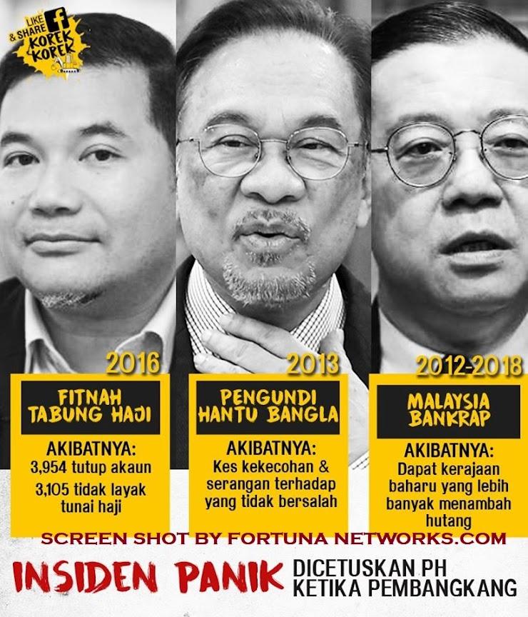 Beberapa Insiden Panik Dicetuskan Politisi DAP/PKR @ PH Ketika Barisan Nasional Memerintah Malaysia