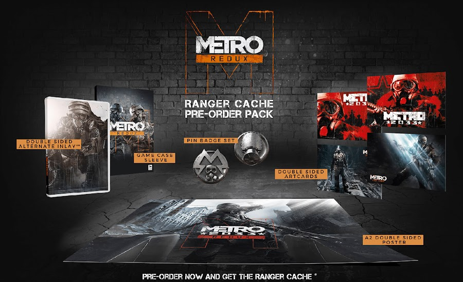 metro redux nintendo switch ranger cache pre-order pack bonus 2033 last light first-person shooter survival horror game 4a games deep silver