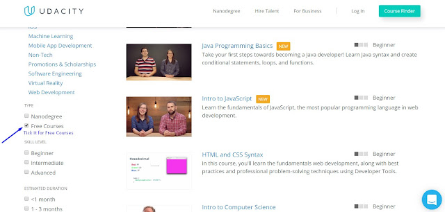 free courses on udacity