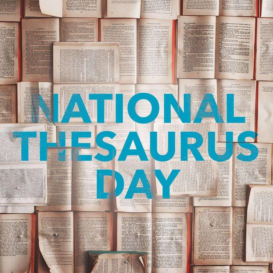National Thesaurus Day Wishes Beautiful Image