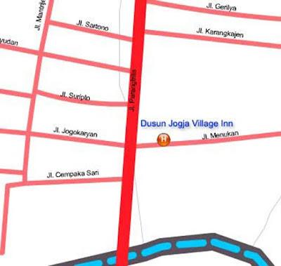Lokasi Dusun Jogya Village Inn