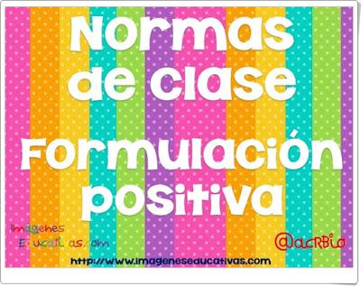 """""""Normas de clase"""" (Formulación positiva)"""