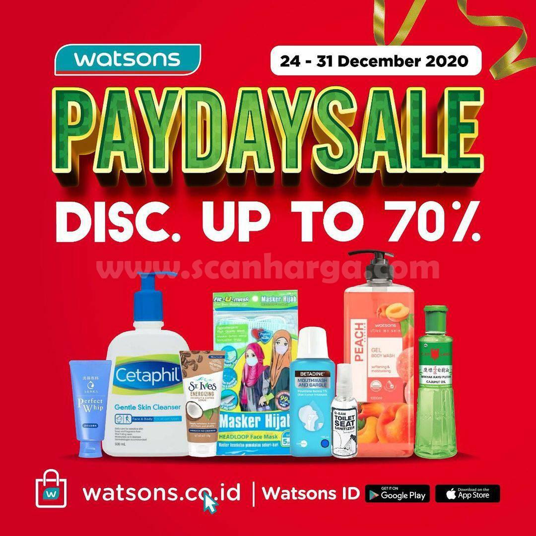 WATSONS Promo PAYDAY SALE – DISKON hingga 70%