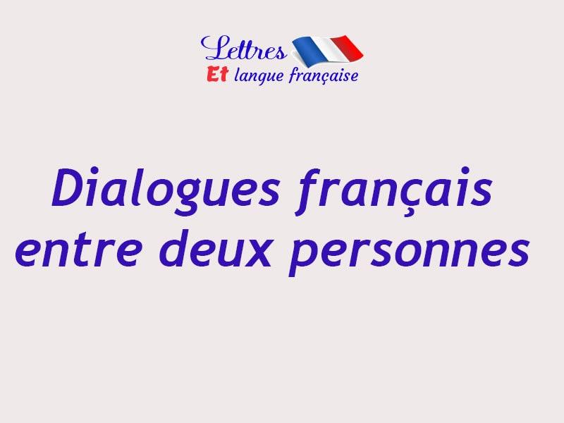 Dialogue entre deux personnes