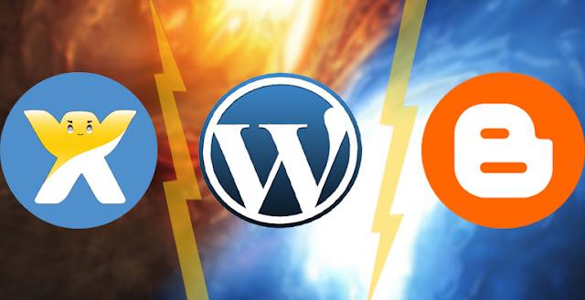 مقارنة بين افضل ثلاث منصات مجانية للتدوين WordPress و Blogger و Wix
