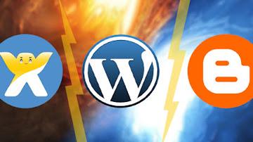 مقارنة بين بلوجر ووردبريس وويكس وأيهما أفضل
