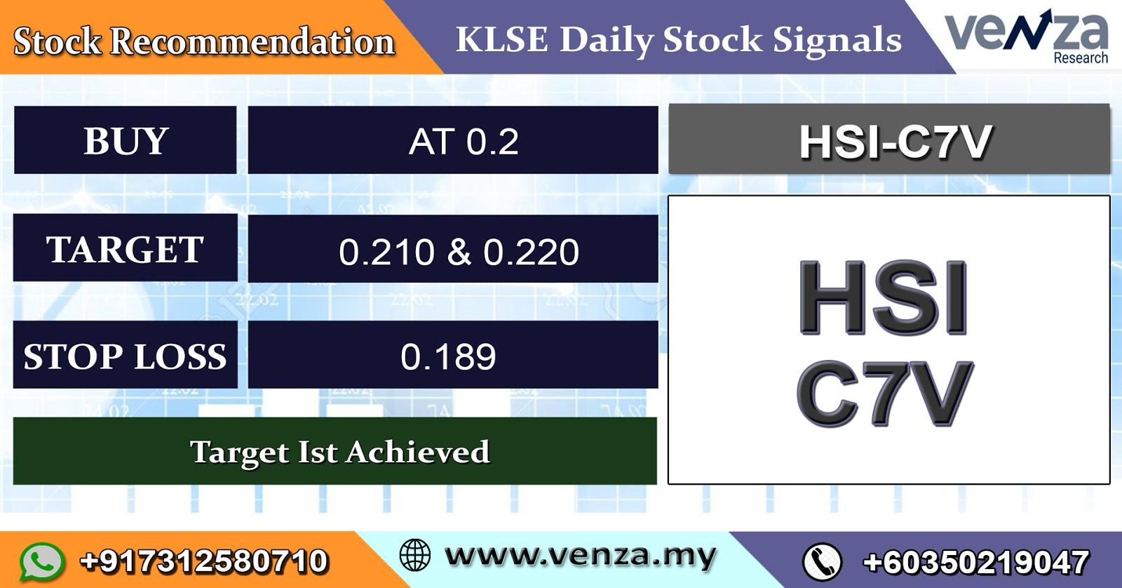 KLSE Intraday Tips: KLSE HSI-C7V Stock Signals 27 Feb 2020