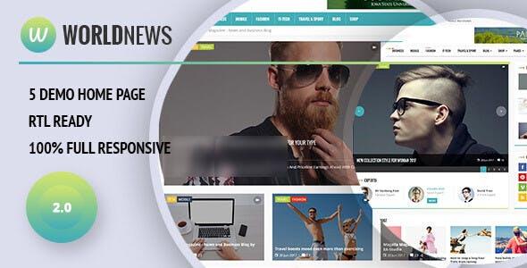 WorldNews v2.0 - Magazine RTL Responsive WordPress Blog\Magazine