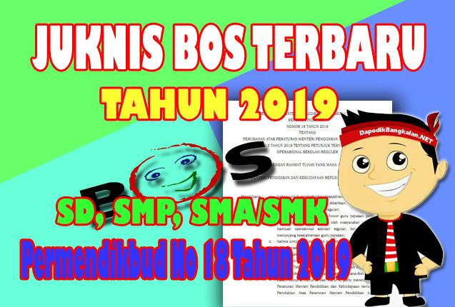 Permendikbud No 18 Tahun 2019 Tentang Juknis BOS 2019 Terbaru Untuk SD, SMP, dan SMA/SMK